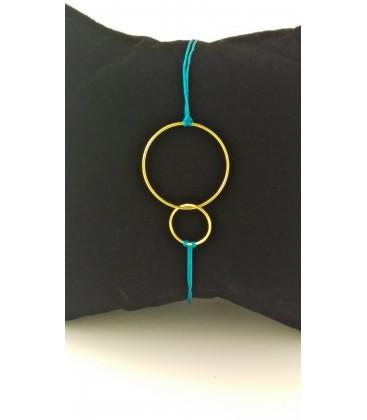 Bracelet été-double cercle