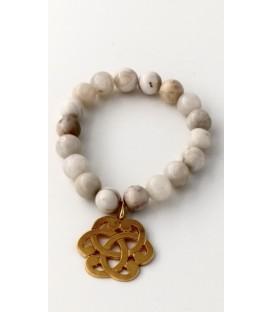 bracelet pierre sérénité or