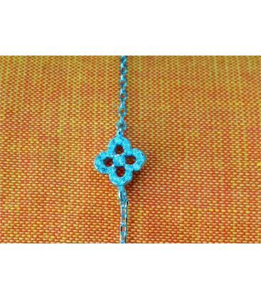 Bracelet fleur-brillant