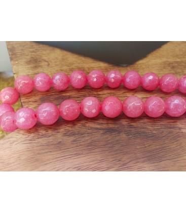 Bracelet en agate rose