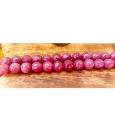 Bracelet en agate rose foncé