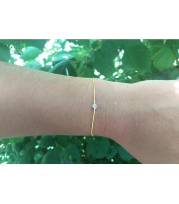 Bracelet fil avec un brillant