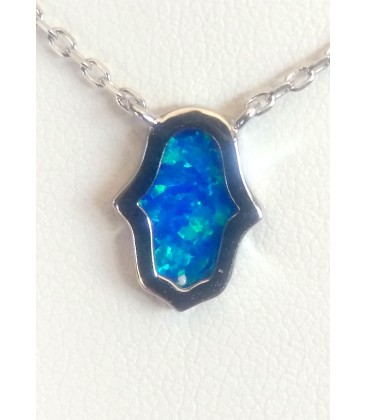 collier opale hamsa