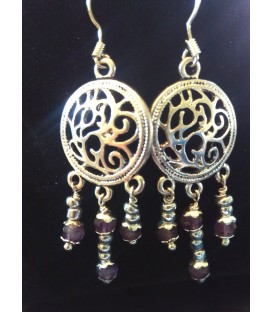 Boucles d'oreilles arabesque pendantes