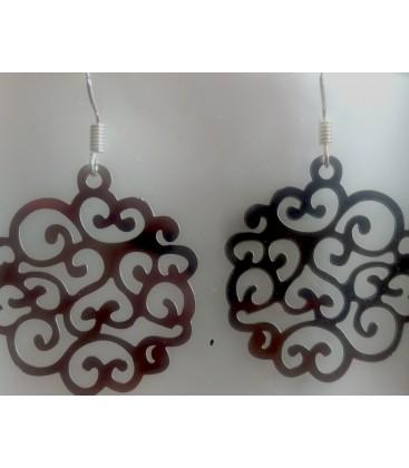 Boucles d'oreilles arabesque coeur