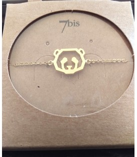 bracelet panda doré