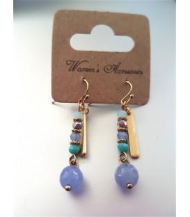 Boucles d'oreilles Svaha turquoise