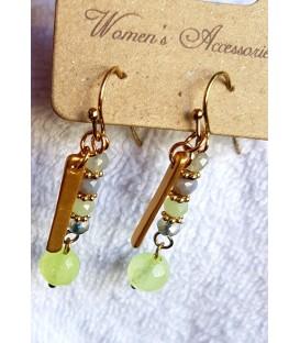 Boucles d'oreilles Svaha vert