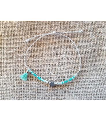 Bracelet petites perles vertes