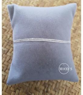 Bracelet double chainette boule