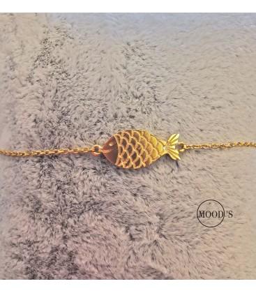 bracelet poisson doré