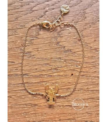 bracelet homard doré