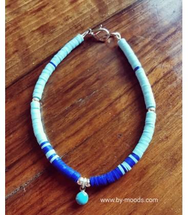 bracelet de surfeur bleu