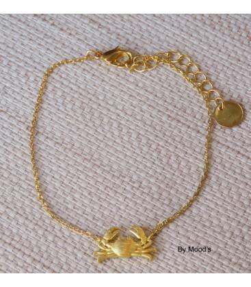 bracelet crabe doré