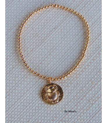 Bracelet Scarabée Or