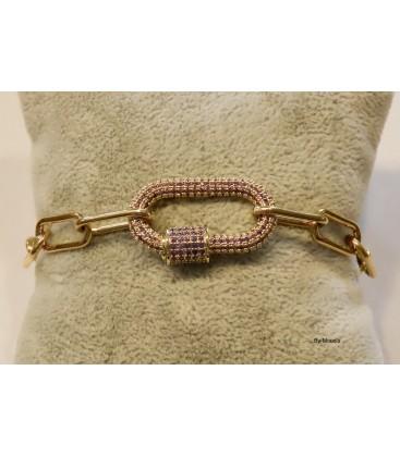 Bracelet fermoir Strass